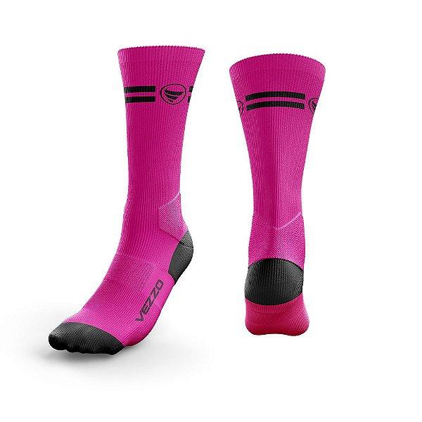 Meia Ciclismo Cano Longo Vezzo Pink