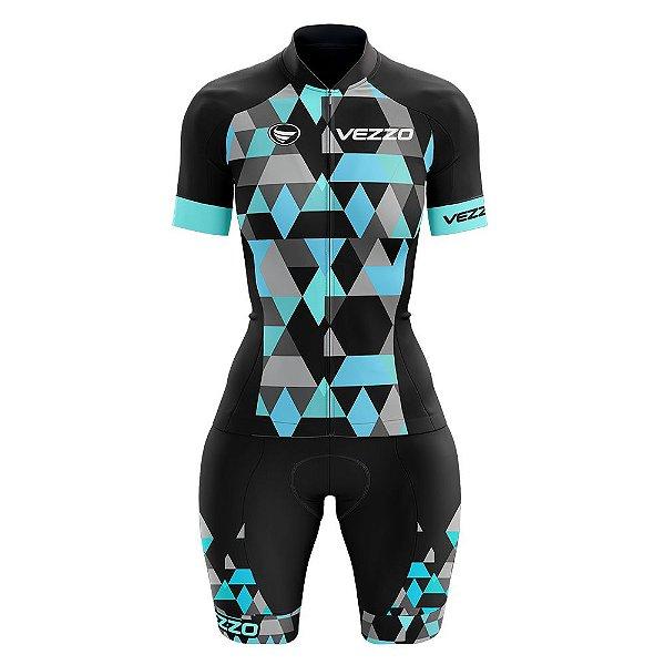 Macaquinho Ciclismo MTB Vezzo Adamant Turquoise