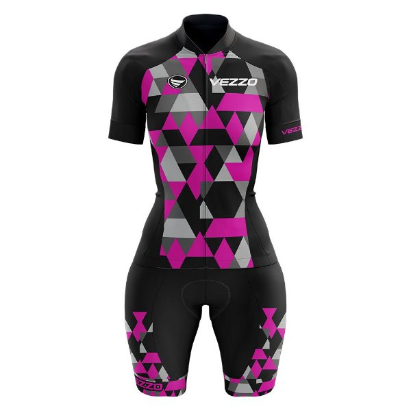 Macaquinho Ciclismo MTB Vezzo Adamant Pink