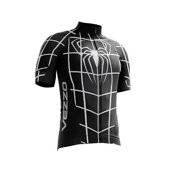 Camisa Ciclotour Infantil Menino Vezzo Homem Aranha Black