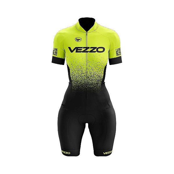 Macaquinho Ciclismo Vezzo FORZA - Fluor