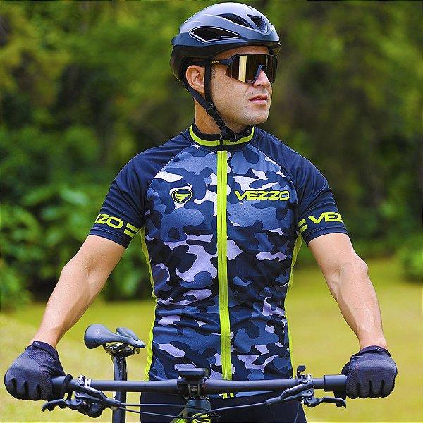Camisa Ciclotour Masculina Vezzo CAMOUFLAGE