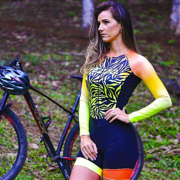 Macaquinho Ciclismo Carbon - TIGER Fluor Effect