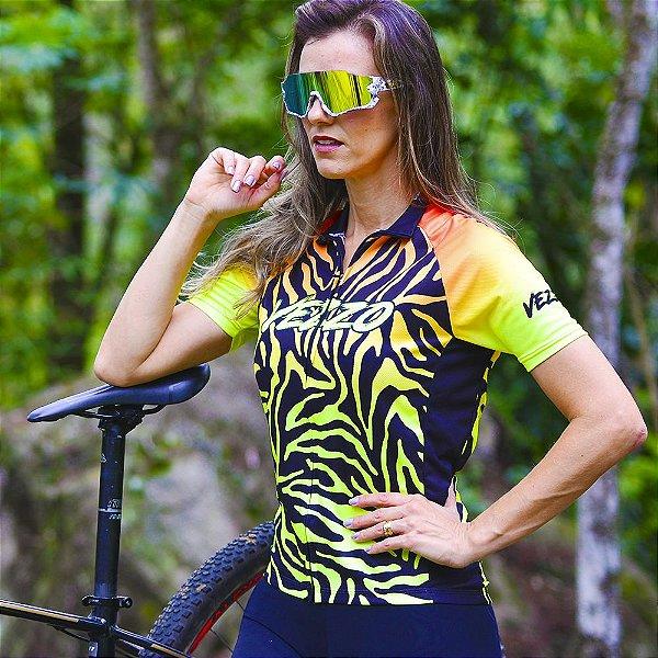 Camisa Ciclotour Feminina Vezzo TIGER - Fluor Effect