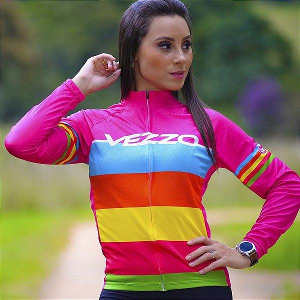 Camisa Ciclotour Feminina Vezzo Colors