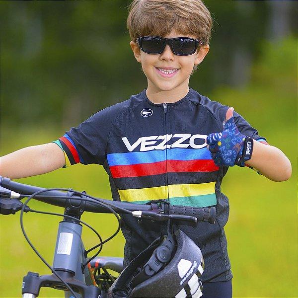 Camisa Vezzo Elite Infantil World Champion Preta