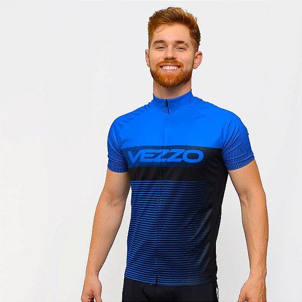 Camisa Vezzo Ciclotour Masculino Lightning Blue