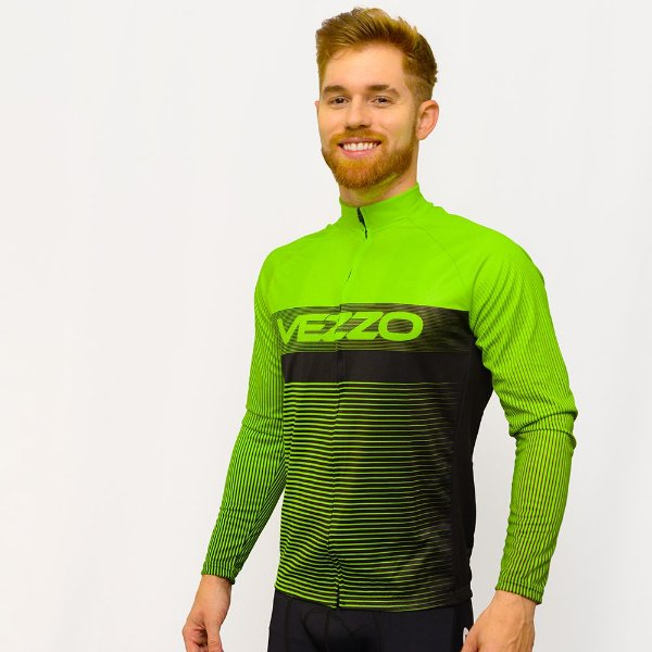 Camisa Vezzo Ciclotour Masculino Lightning Green
