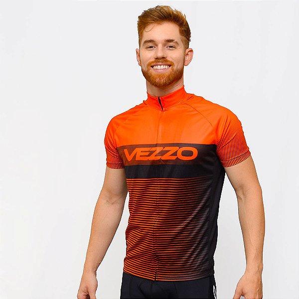 Camisa Vezzo Ciclotour Masculino Lightning Orange