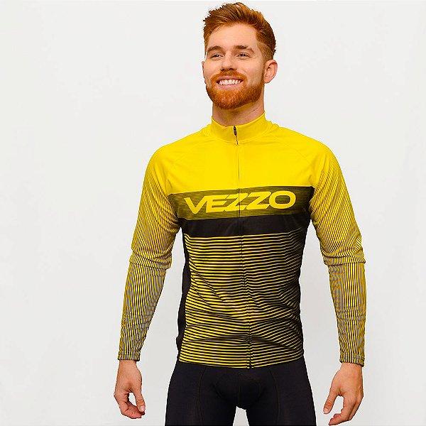 Camisa Vezzo Ciclotour Masculino Lightning Yellow