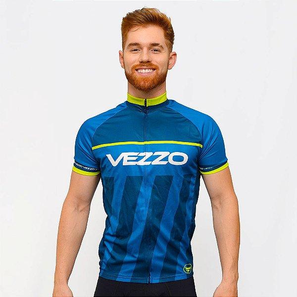 Camisa Vezzo Ciclotour Masculino Thunder Blue