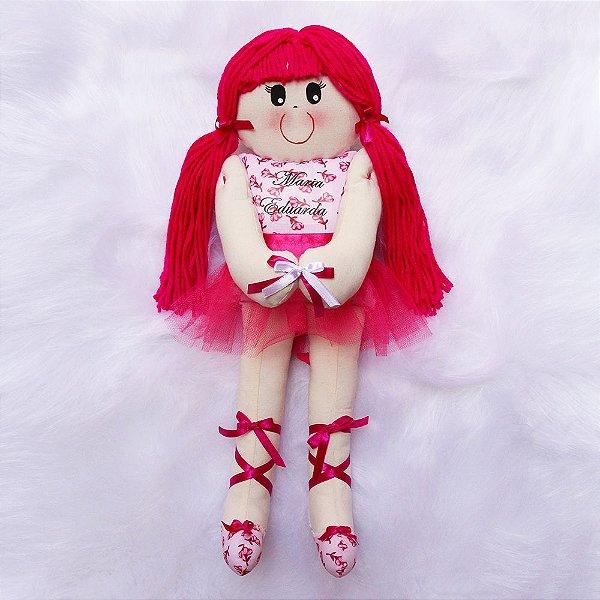 Boneca de Pano Bailarina Rosa Pink