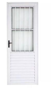 Porta Social Alumínio Branco 210x80 com Postigo 23805
