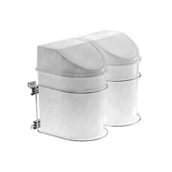 Lixeira Deslizante Dupla 12 litros