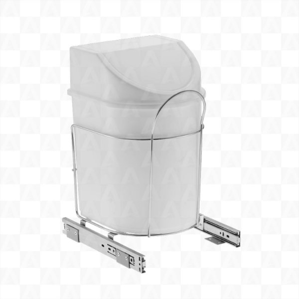 Lixeira Deslizante Simples 12 litros