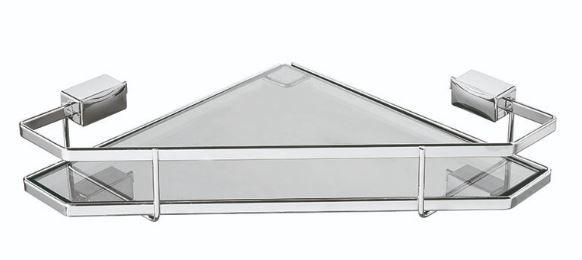 Porta Xampu de Canto Piatina Cromado