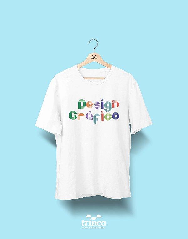 Camiseta Universitária - Design Gráfico - Origami - Basic