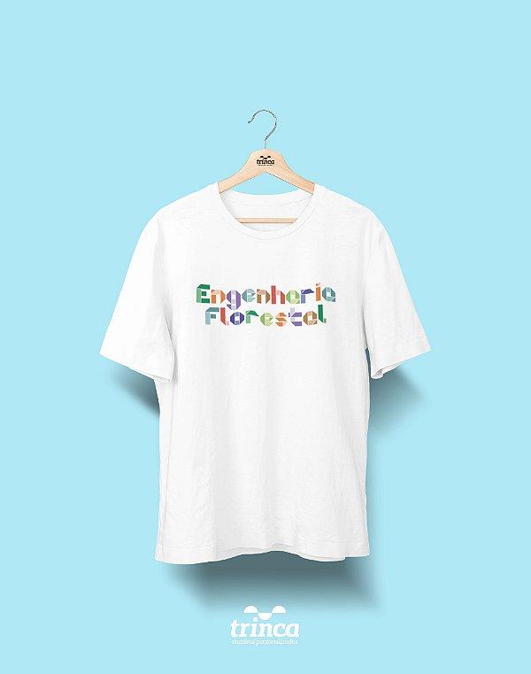 Camiseta Universitária - Engenharia Florestal - Origami - Basic