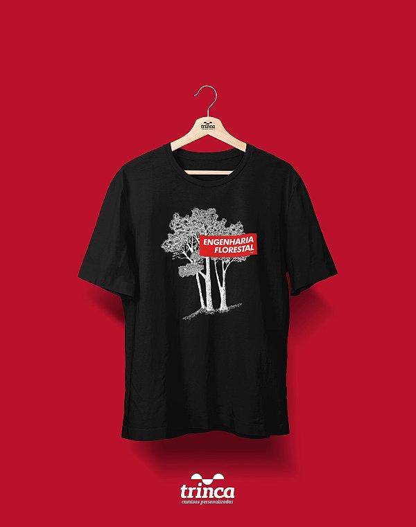 Camiseta Universitária - Engenharia Florestal - Supreme - Basic