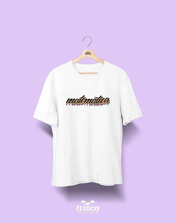 Camiseta Universitária - Matemática - Grafite - Basic