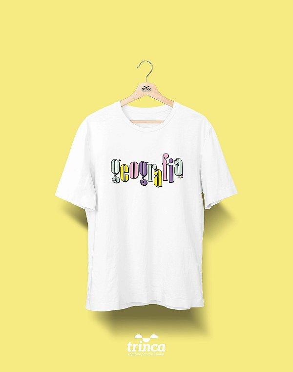 Camiseta Universitária - Geografia - 90's - Basic