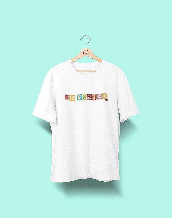 Camiseta Universitária - Educação Física - Colagem - Basic