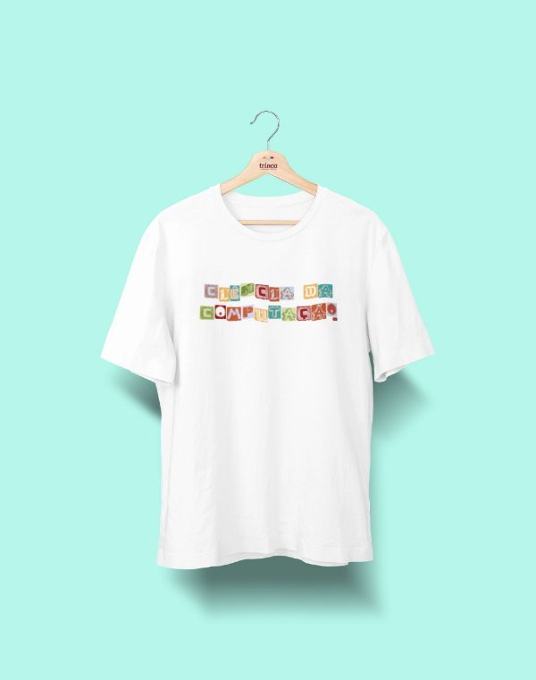 Camiseta Universitária - Ciência da Computação - Colagem - Basic