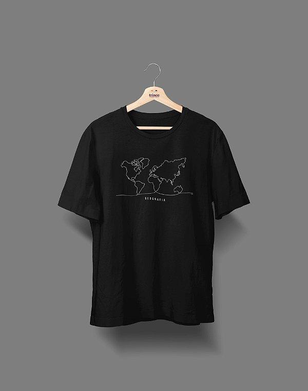 Camiseta Universitária - Geografia - Fine Line - Basic