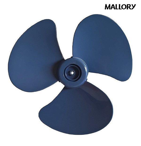 Hélice Ventilador Mallory Boreal Security 30cm 3 Pás Azul