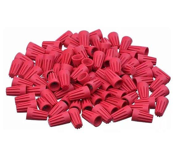 Conector Torção Emenda Fios Cabos Até 7,4mm² - 10 Uni Vermelho