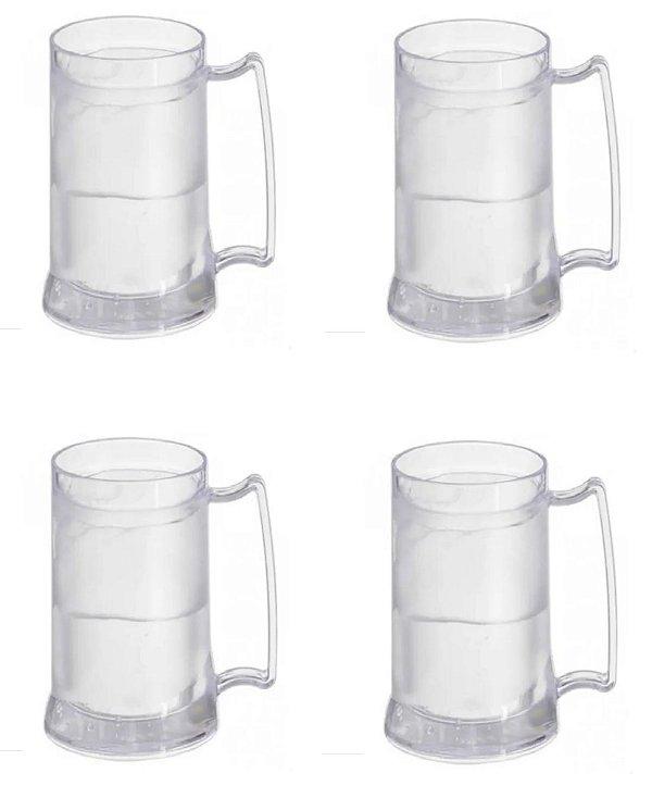 Kit 4 Canecas Térmica Gel Congelante Bebidas Ultra Geladas
