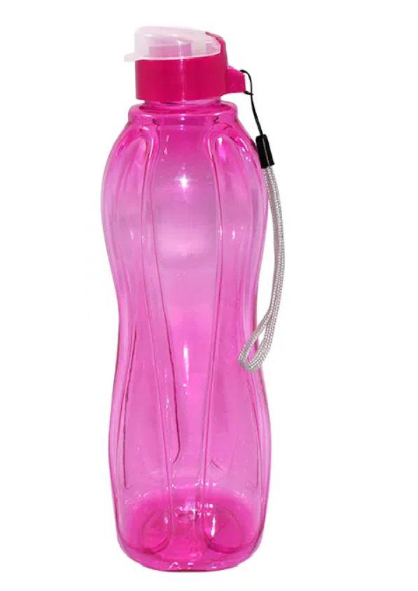 Garrafa Squeeze Esportes Fitness Plástico Incolor Rosa 600 ml