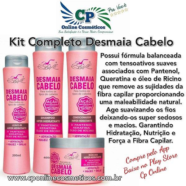 Kit Completo Desmaia Cabelo - Hidratação Profunda - Belkit