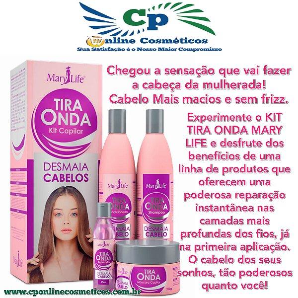 Kit Capilar Tira Onda Desmaia Cabelo - Hidratação Capilar - Mary Life