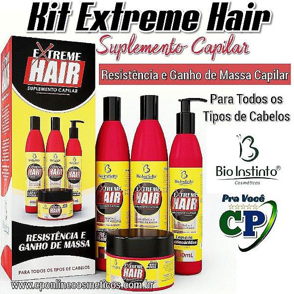 Kit Extreme Hair - Tratamento Capilar - Bio Instinto
