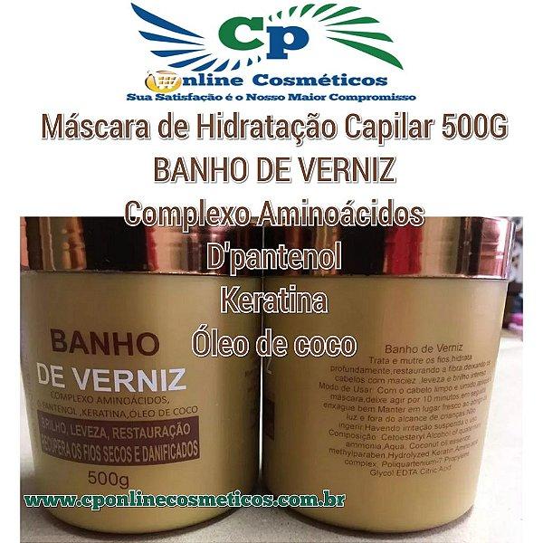 Máscara Banho de Verniz 500 g - Hidratação Capilar - Naxos
