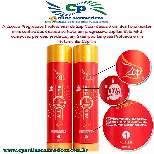 kit Escova Progressiva All Time 2x1L - Zap Profissional