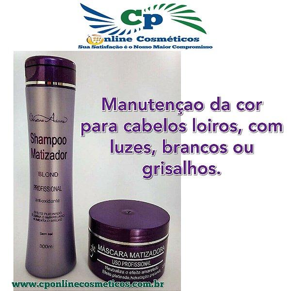 Kit Matizador Blond Shampoo 300 ml e Máscara 250 - Naxos