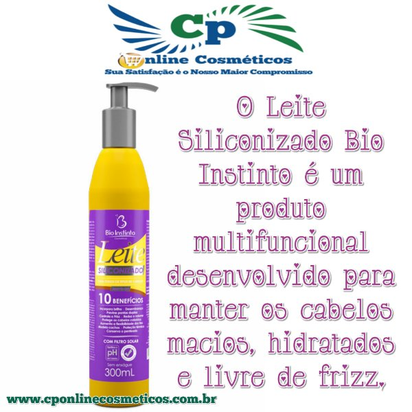 Leite Siliconizado 300 ml - Creme de Pentear - Bio Instinto