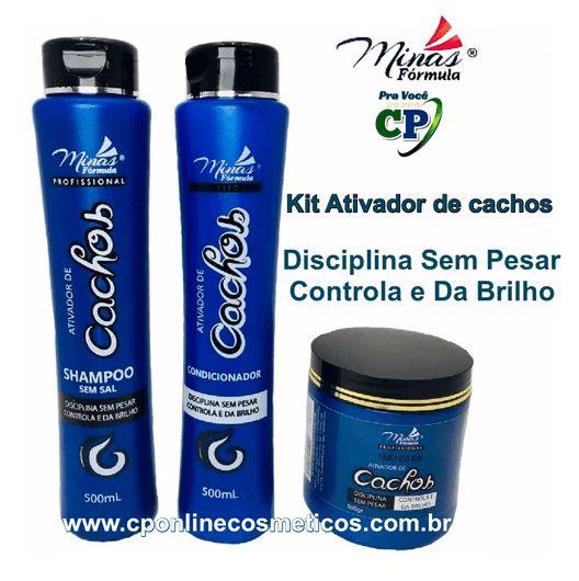 Kit Ativador de Cachos com Máscara de 500g - Minas Fórmula