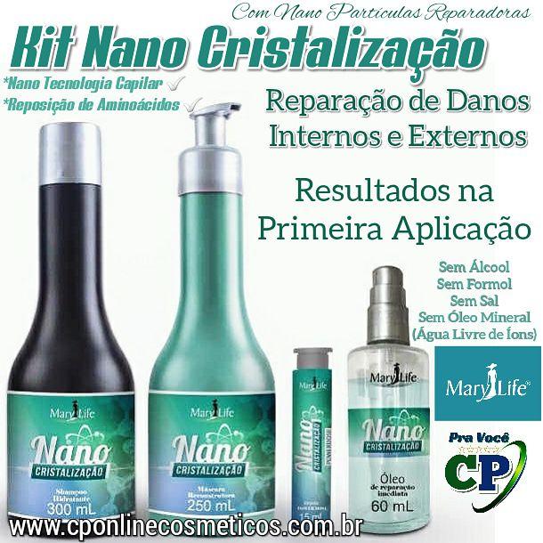 Kit Capilar Nano Cristalização - Mary Life