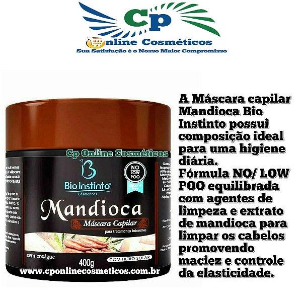Máscara Mandioca 400g - No Low Poo - Bio Instinto