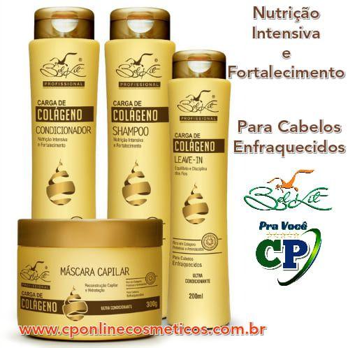Kit Completo Carga de Colágeno - Tratamento Capilar - Belkit