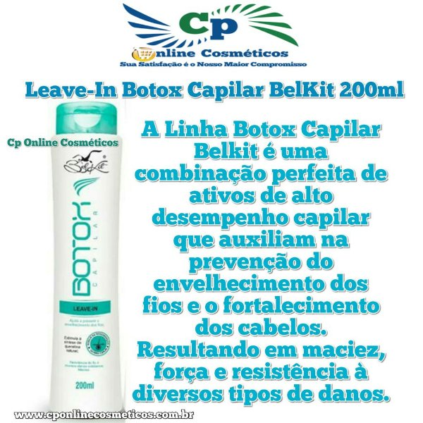 Finalizador Leave-In Botox Capilar 200 ml - Creme de Pentear - Belkit