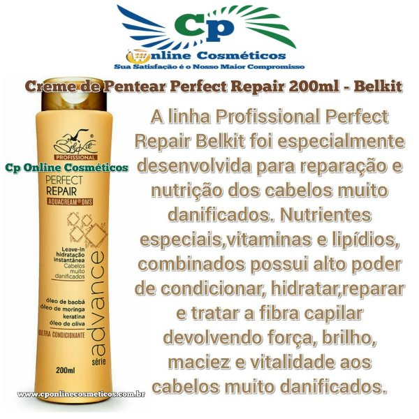 Finalizador Leave-in Perfect Repair 200 ml - Creme de Pentear - Belkit