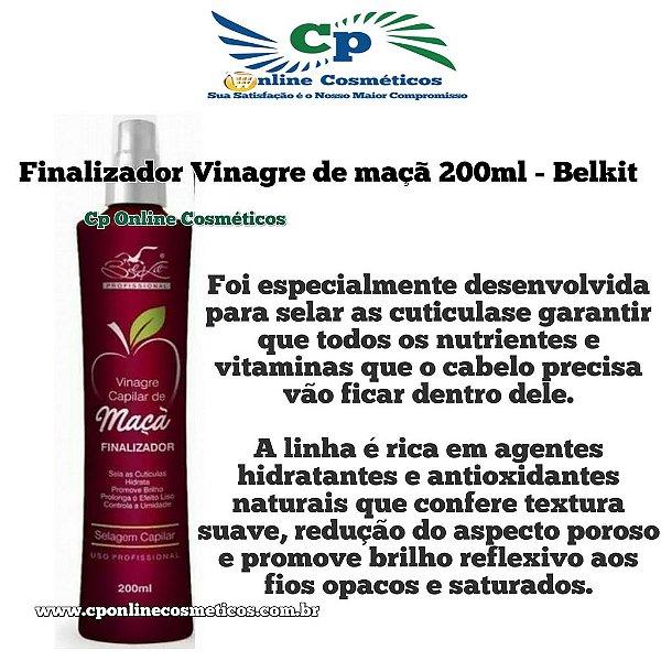 Finalizador Leave-in Vinagre de Maçã 200 ml - Creme de Pentear - Belkit