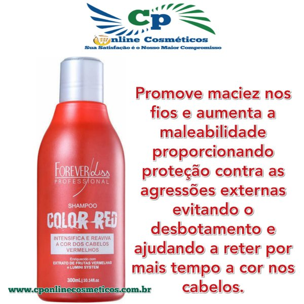 Shampoo Color Red 300 ml - Forever Liss