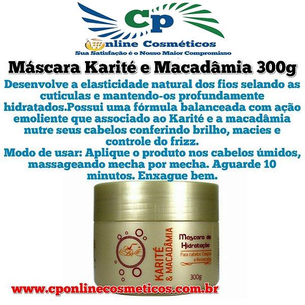 Máscara de Hidratação Capilar Karité e Macadâmia 300 g - Belkit