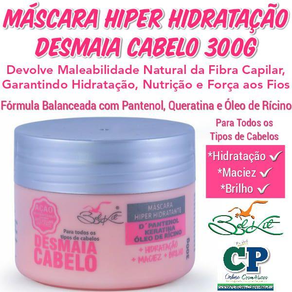 Máscara Capilar Desmaia Cabelo 300g - Belkit