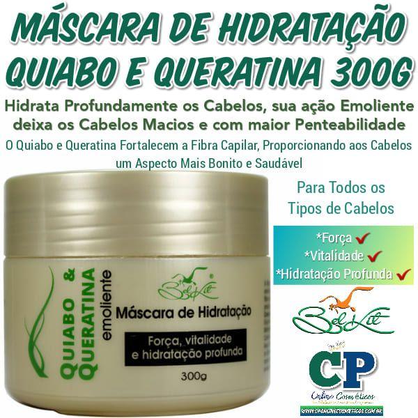 Máscara Capilar Quiabo e Queratina 300g - Belkit